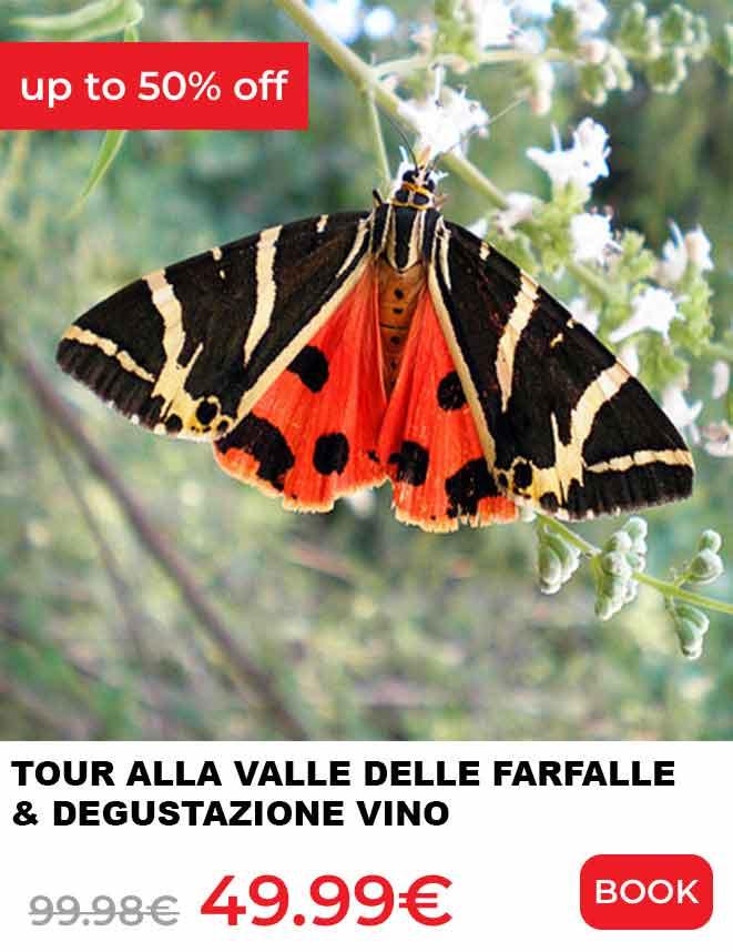 escursioni a rodi valle delle farfalle