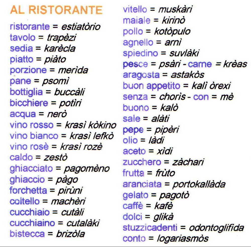 parlare greco